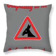 Surfing Bigstock  Donkey 171252860 Throw Pillow