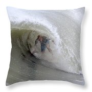 Surfing Bogue Banks 4 Throw Pillow