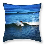 Surfing Boy  Throw Pillow