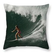 Surfing Hawaii 2 Throw Pillow