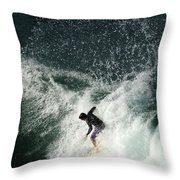 Surfing Hawaii 4 Throw Pillow