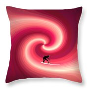 Surfing In The Sunset Two Throw Pillow