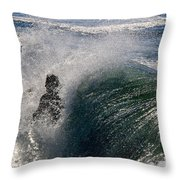 Surfing Into The Sun Throw Pillow