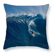 Surfing Jaws Throw Pillow
