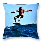 Surfing Legends 5 Throw Pillow