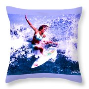 Surfing Legends 6 Throw Pillow