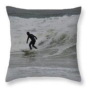 Surfing, N. Hampton Nh Throw Pillow