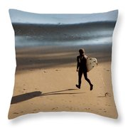 Surfing On Air  Throw Pillow
