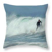 Surfing On The Oregon Coast Throw Pillow