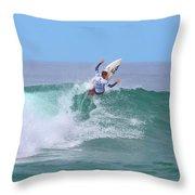 Surfing Panorama Throw Pillow
