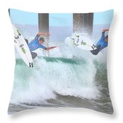 Surfing Sequence Throw Pillow