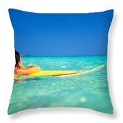Surfing Serenity Throw Pillow by Dana Edmunds - Printscapes
