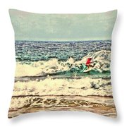 People On The Wave Throw Pillow