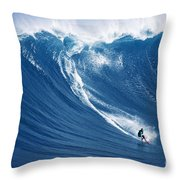 Surfing The Infamous Jaws Throw Pillow