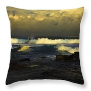 Surfing The Storm Throw Pillow