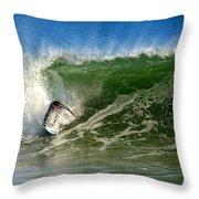 Surfing The Winter Atlantic Throw Pillow