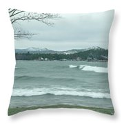 Surfing Waves Throw Pillow