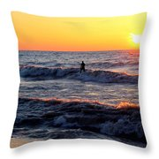 Surf's Up Grand Bend Throw Pillow