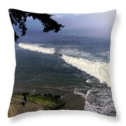 California Surfers Throw Pillow