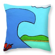 Surf's Up Throw Pillow