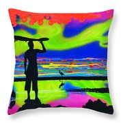 Surfscape Dreaming Throw Pillow