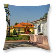 Surfside Neighborhood In Miami Beach Throw Pillow