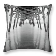 Surfside Pier Exposure Throw Pillow