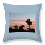 Surfside Sunset Throw Pillow