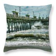Surge Under The Pier Throw Pillow