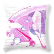 Surgeries 2008 - Abstract Throw Pillow by Rod Ismay