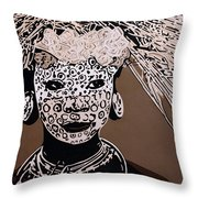 Surma Girl Throw Pillow