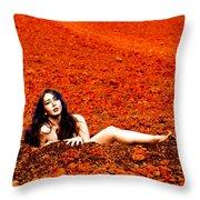 Surprised Martian Hatching Throw Pillow