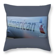 Surreal American Airlines Airbus Throw Pillow