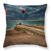 Surreal Beach Throw Pillow