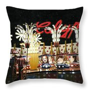 Surreal Carnival Throw Pillow