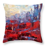 Surreal City Throw Pillow