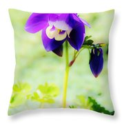 Surreal Columbine Throw Pillow