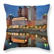 Surreal Columbus Ohio Throw Pillow