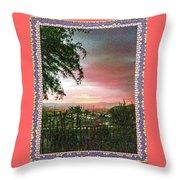 Surreal Desert Sunset Throw Pillow