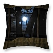 Surreal Double Moon Throw Pillow