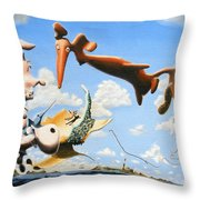 Surreal Friends Throw Pillow