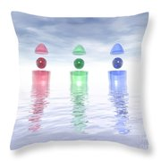 Surreal Glass Structures Throw Pillow