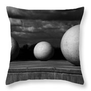 Surreal Globes Throw Pillow
