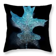 Surreal Ice Leaf Throw Pillow