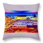 Surreal Jerusalem Art Throw Pillow