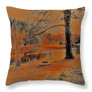 Surreal Langan Park 2 - Mobile Alabama Throw Pillow
