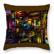 Surreal Old West Bar  Throw Pillow