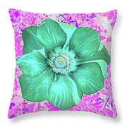 Surreal Poppy  Throw Pillow