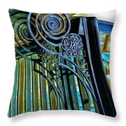 Surreal Reflection And Wrought Iron Throw Pillow