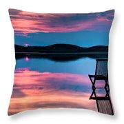 Surreal Sunset Throw Pillow